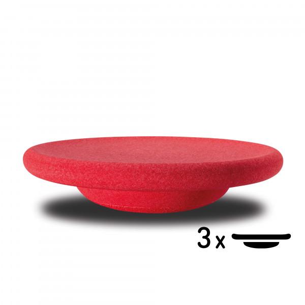 Stapelstein - Balanceboard CLASSIC BASIC 3er Set rot