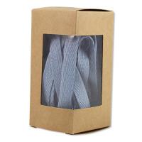 ava&yves - Baumwoll-Geschenkband puderblau