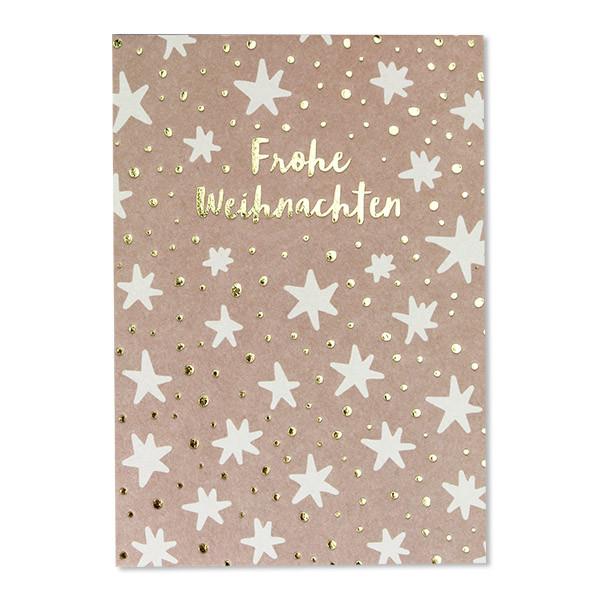 ava&yves - Postkarte Sterne weiß/rosa
