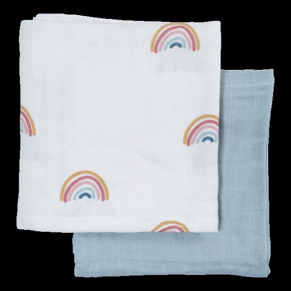 Fabelab - Musselintücher 2er-Set Rainbow
