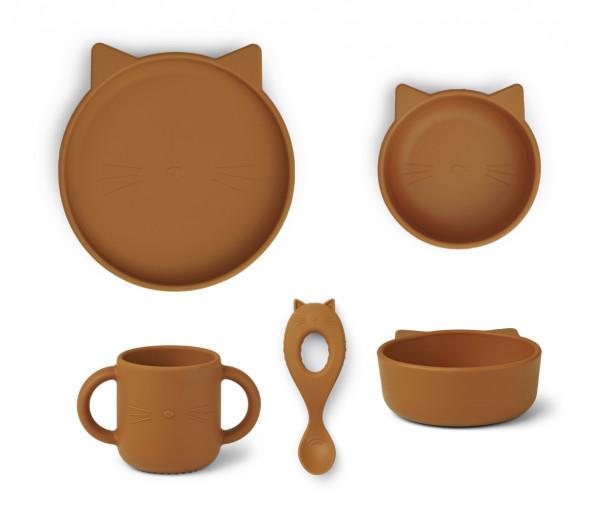 Liewood - Silikongeschirr Vivi Cat mustard