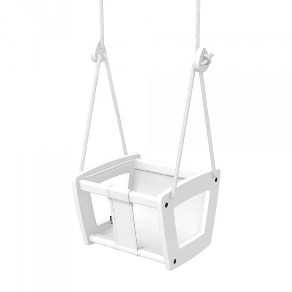Lillagunga - Toddler White Birch - White Leather - weiße Seile