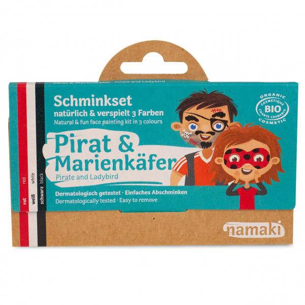 namaki - Bio Kinderschminke Pirat & Marienkäfer 3 Farben