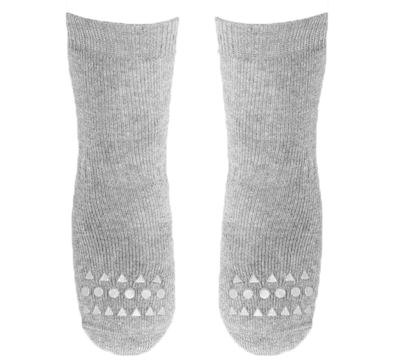 GOBABYGO - rutschfeste Socken hellgrau melange