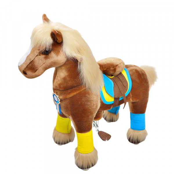 PonyCycle - Plüschpferd braun Premium