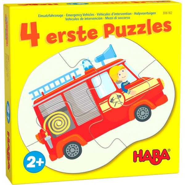 HABA - 4 erste Puzzle - Einsatzfahrzeuge