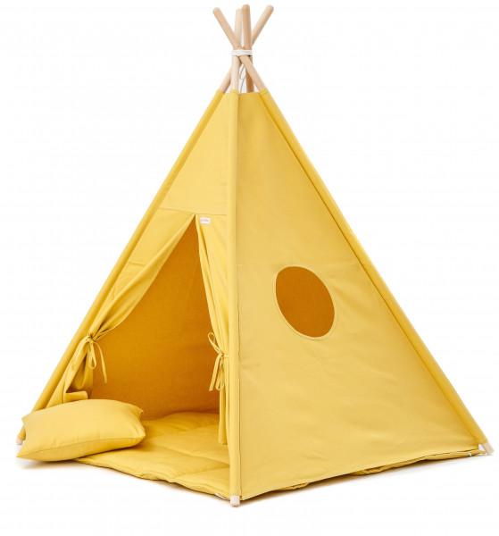 WigiWama - Tipi-Set in gelb - sofort lieferbar