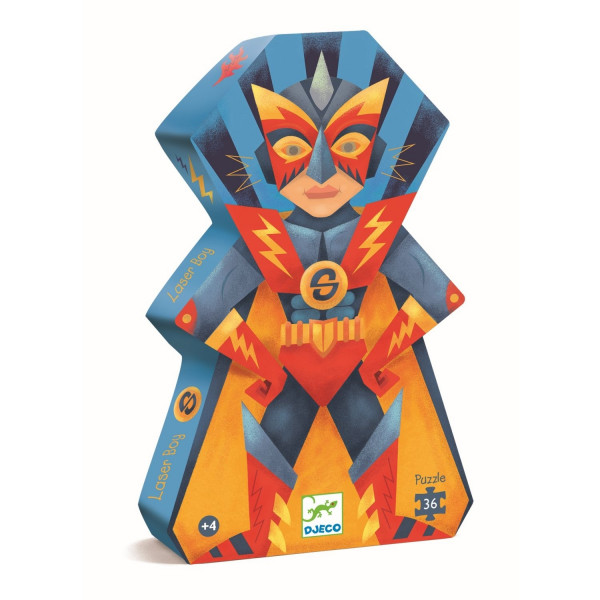 Djeco - Silhouette Puzzle: Laser Boy