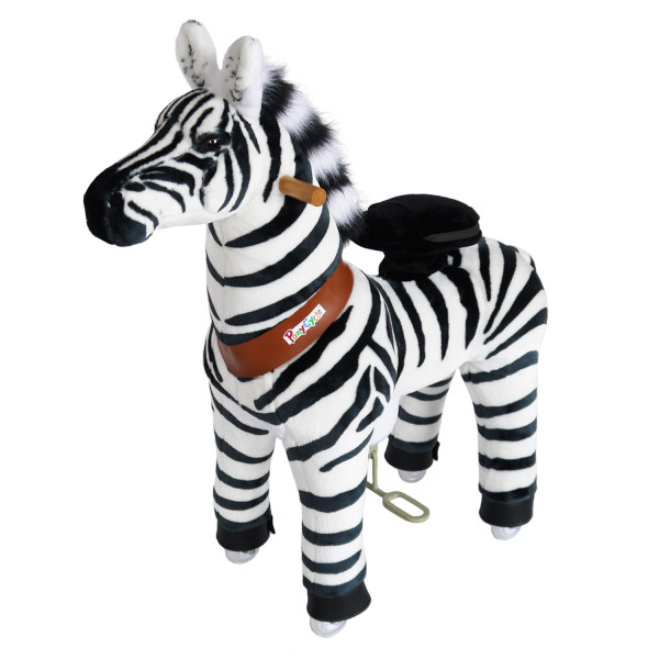 PonyCycle - Plüschpferd Zebra
