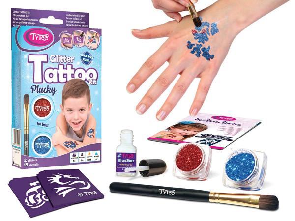 TYTOO - Glitzer Tattoo Kit Plucky Boys