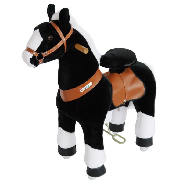 PonyCycle - Plüschpferd mit Sound schwarz
