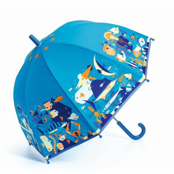 Djeco - Regenschirm Kinder Meeresdesign