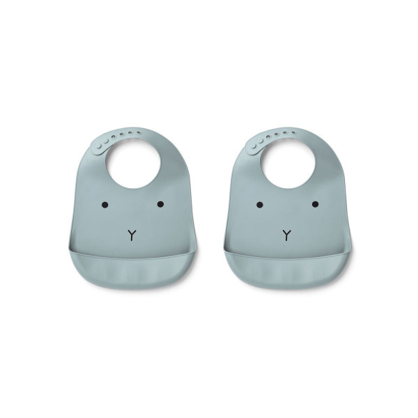 Liewood - Lätzchen 2er Set Tilda rabbit sea blue