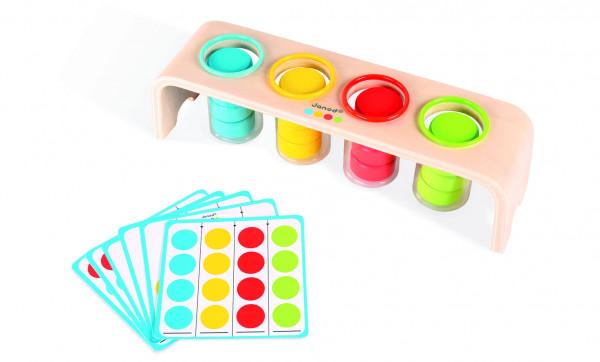 Janod - Essentiel Sortierspiel Farbsteine
