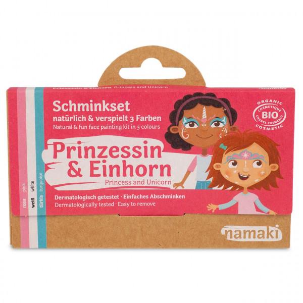 namaki - Bio Kinderschminke Einhorn & Prinzessin 3 Farben