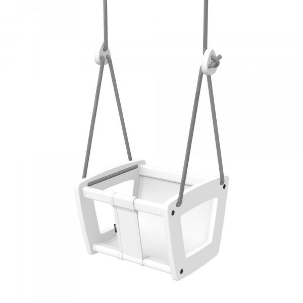 Lillagunga - Toddler White Birch - White Leather - graue Seile