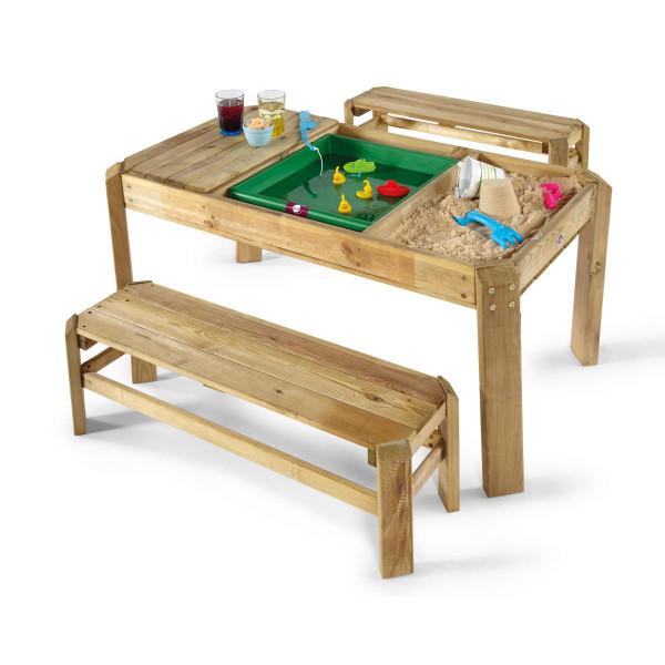 Plum - Spieltisch mit Bänken aus Holz