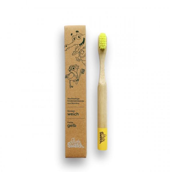 Powdy&Snatch - Zahnbürste aus Bambus gelb