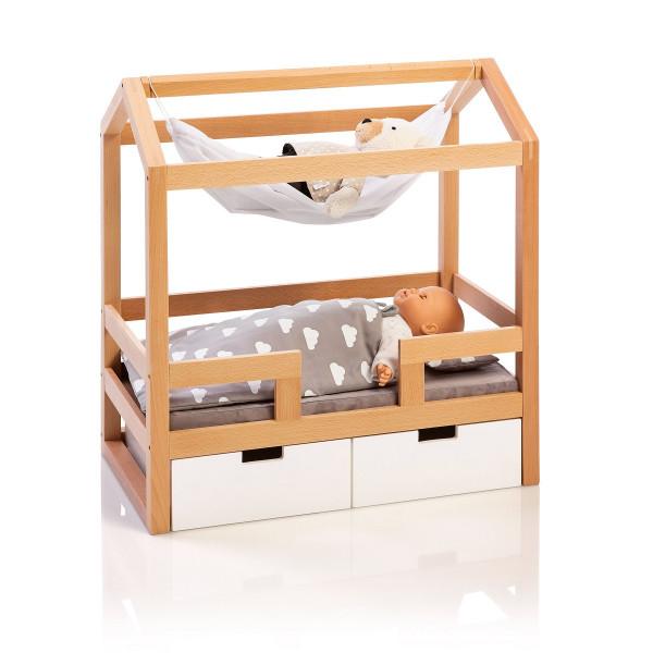 Musterkind - Puppen-Hausbett Barlia natur/weiß