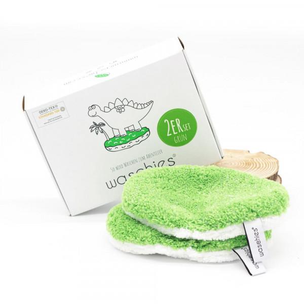 """waschies - Waschpad für Babys und Kinder """"Sonderedition"""" 2er Set Grün"""