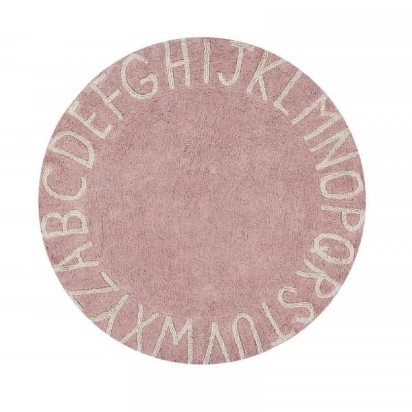 Lorena Canals - Teppich Washable Baumwolle Round ABC Vintage Nude
