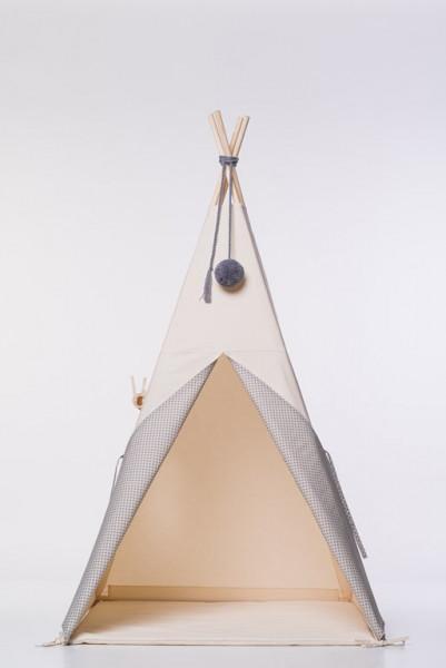 NUNUNU - TIPI Zelt grau (graphit Sterne)