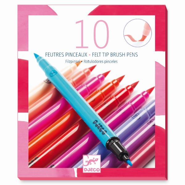 Djeco - 10 Filzstifte - Mädchenfarben