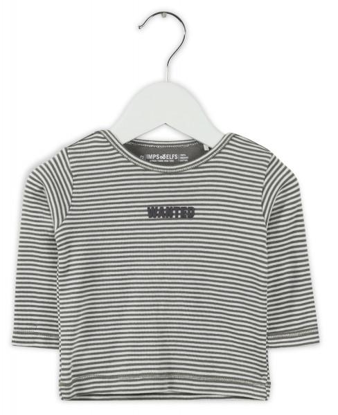 Imps&Elfs - Langarmshirt grau/ weiß gestreift