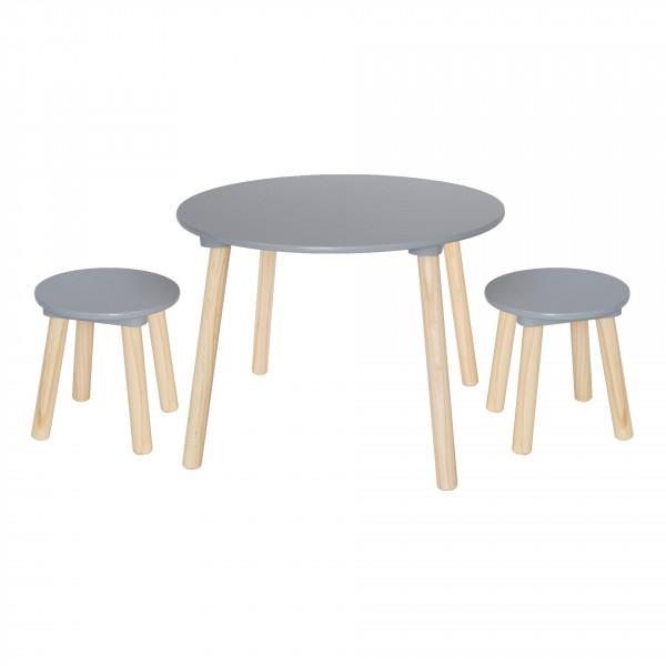 JaBaDaBaDo - Tisch inkl. 2 Hocker grau