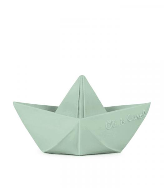 "Oli&Carol - Badespielzeug ""Origami Boat"" mint"