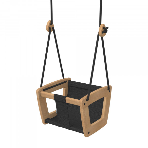 Lillagunga - Toddler Oak - Black Dice - schwarze Seile - sofort lieferbar
