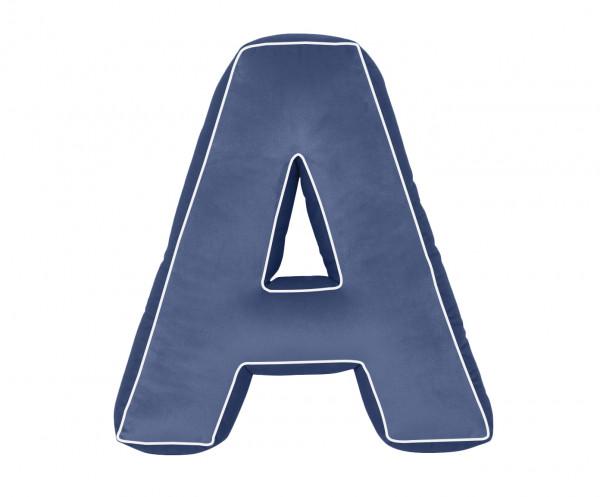 Betty's Home - Baumwollkissen Buchstaben A-Z navy blue