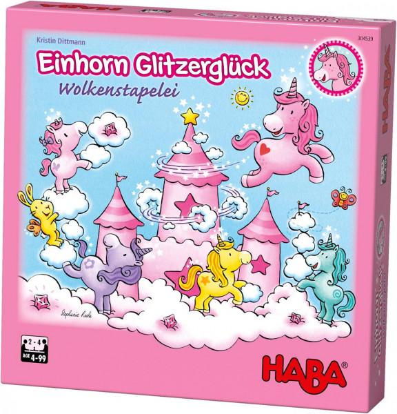 """HABA - Kinderspiel """"Einhorn Glitzerglück"""" Wolkenstapelei"""