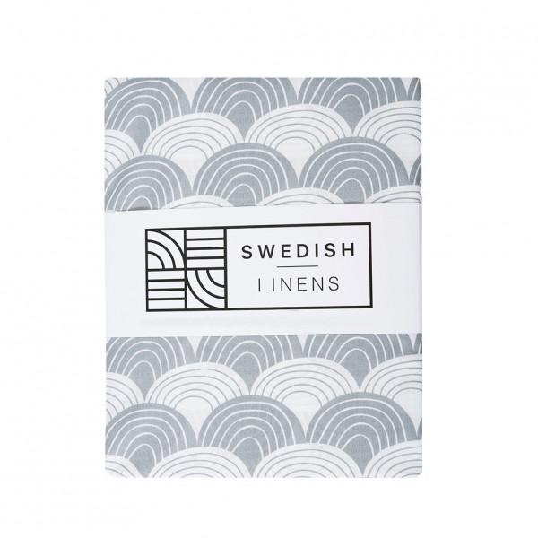 Swedish Linens - Spannbettlaken RAINBOWS Gray