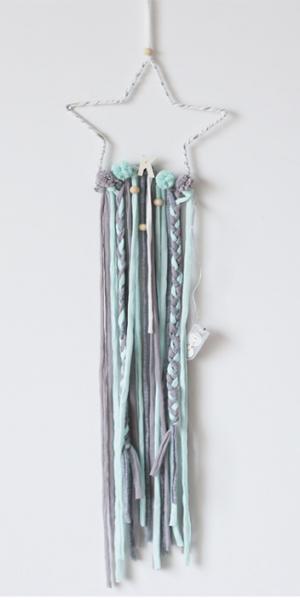 NAYLA - Sternhänger mit Lichterkette mint