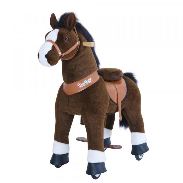 PonyCycle - Plüschpferd mit Sound dunkelbraun
