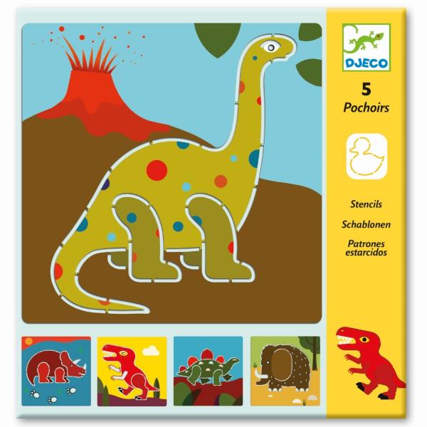 Djeco - Schablonen: Dinosaurier