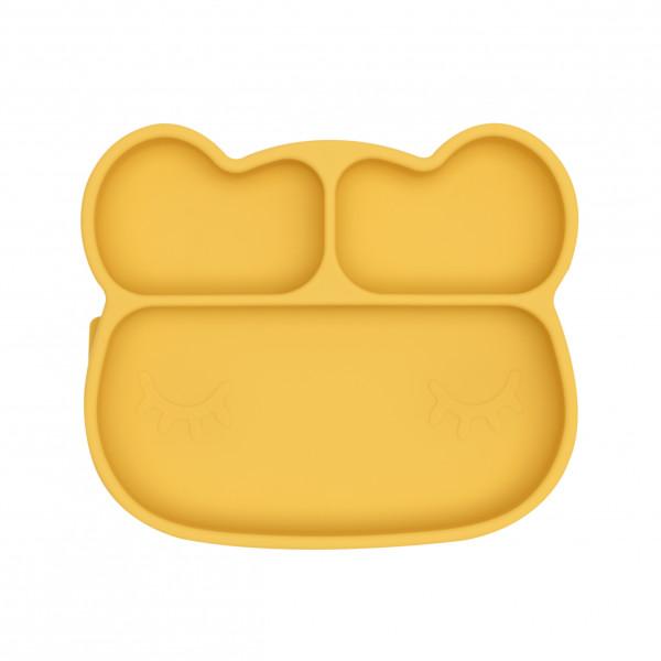 We Might Be Tiny - Stickie Plate - Teller Bär