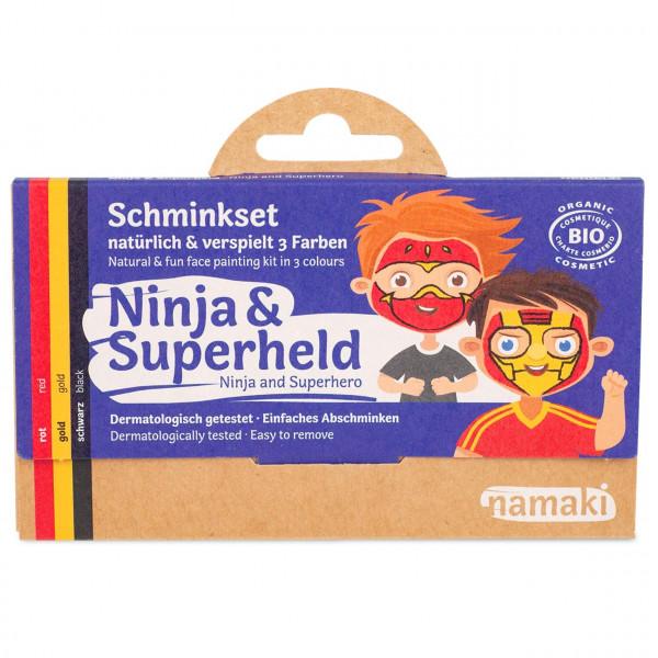 namaki - Bio Kinderschminke Ninja & Superheld 3 Farben