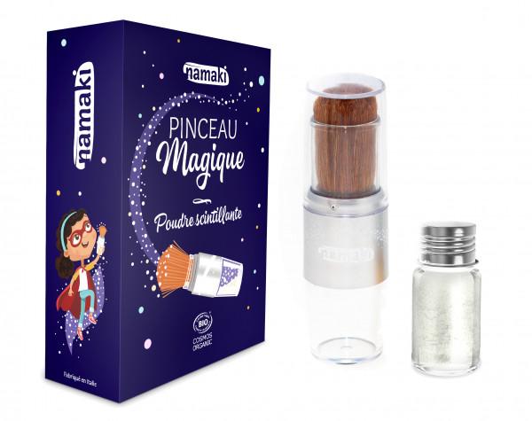 namaki - Bio Glitzerpulver mit Magischem Stift silber