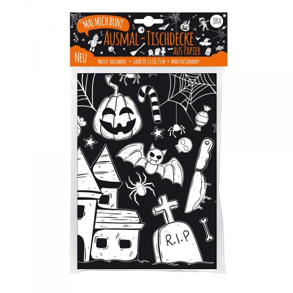 JEKA - Ausmal-Tischdecke Halloween
