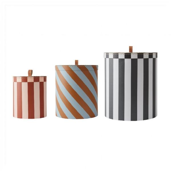 """OYOY - 3er Set Aufbewahrungsbox """"Stripes"""""""