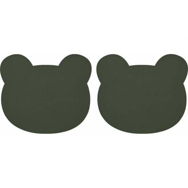 """Liewood - Tischset Gada 2er-Pack """"Bear hunter green"""""""