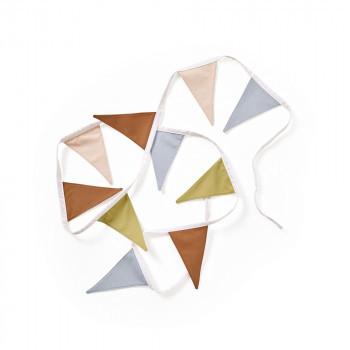 Kids Concept - Wimpelgirlande beige