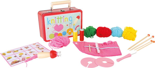 small foot company - Kinderkoffer Strickset